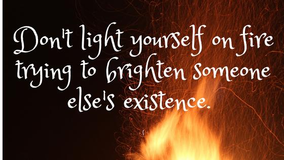Light on fire