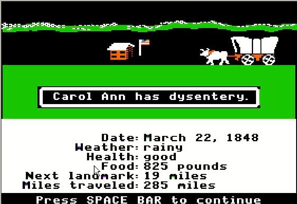Image result for oregon trail game